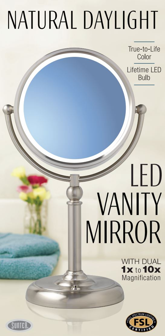 2017 Sunter Natural Daylight Vanity Mirror